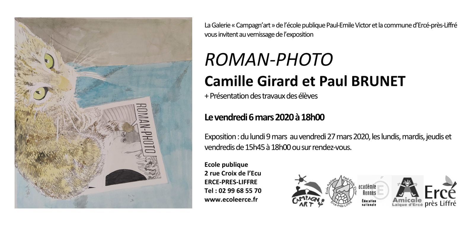 Campagn'art  : Vernissage de l'exposition ROMAN PHOTO - Camille GIRARD & Paul BRUNET