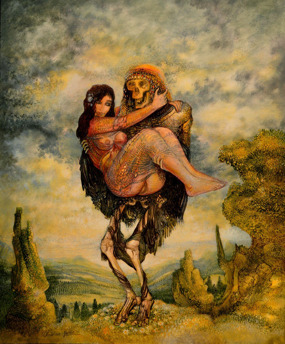 """""""Le chevalier servant"""" - huile sur toile - 46 x 38 cm - 2016"""