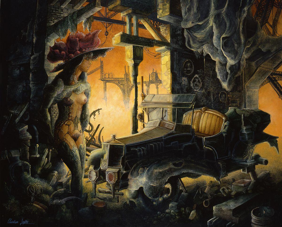 """""""Les jours oubliés"""" - Huile sur toile - 46 x 38 cm - 1989"""