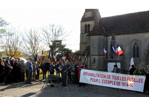 Appel au huitième rassemblement de Rocles pour la réhabilitation collective des 639 fusillés pour l'exemple de la guerre 14-18