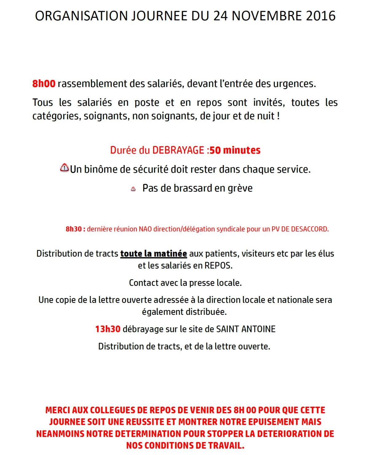 Ras le bol du personnel à la clinique St François