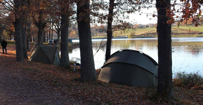 Tout autour de l'étang de Sault, les carpistes se sont installés pour 72 h de pêche non-stop