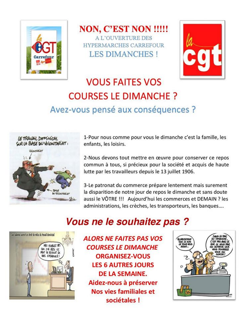 Le tract distribué aux usagers