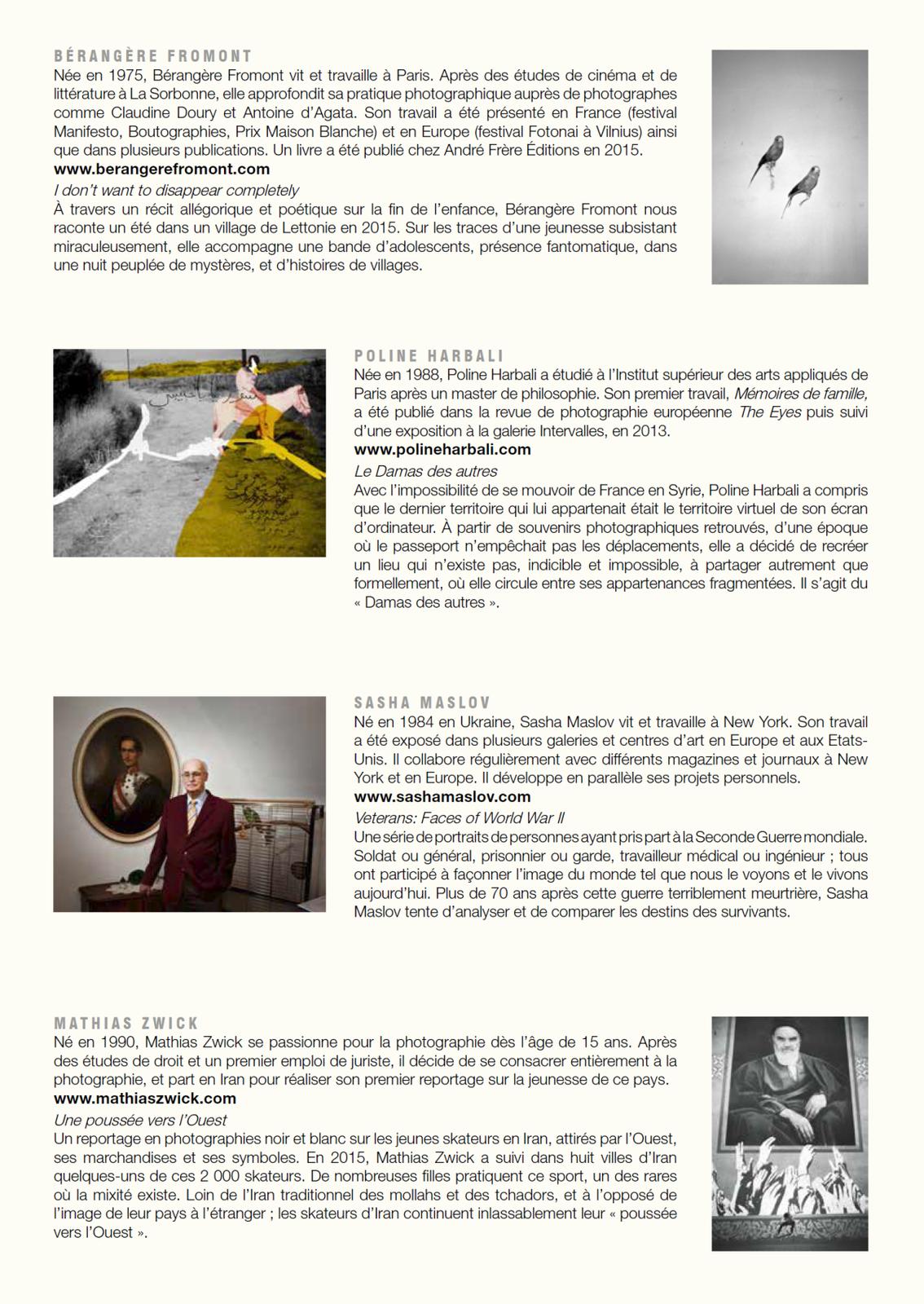 Cinq jeunes talents exposent leurs œuvres photographiques à Clermont-Ferrand