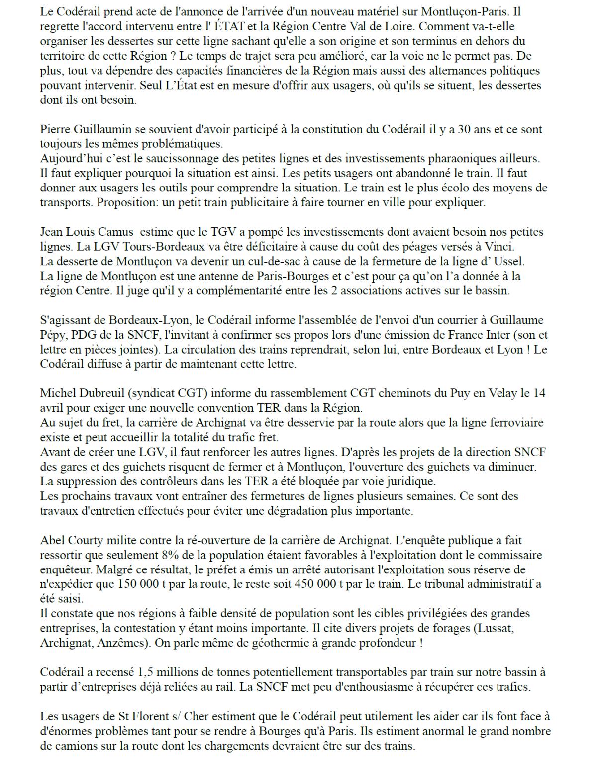 CODERAIL : l'assemblée générale déplore les dégâts du désengagement de l'État
