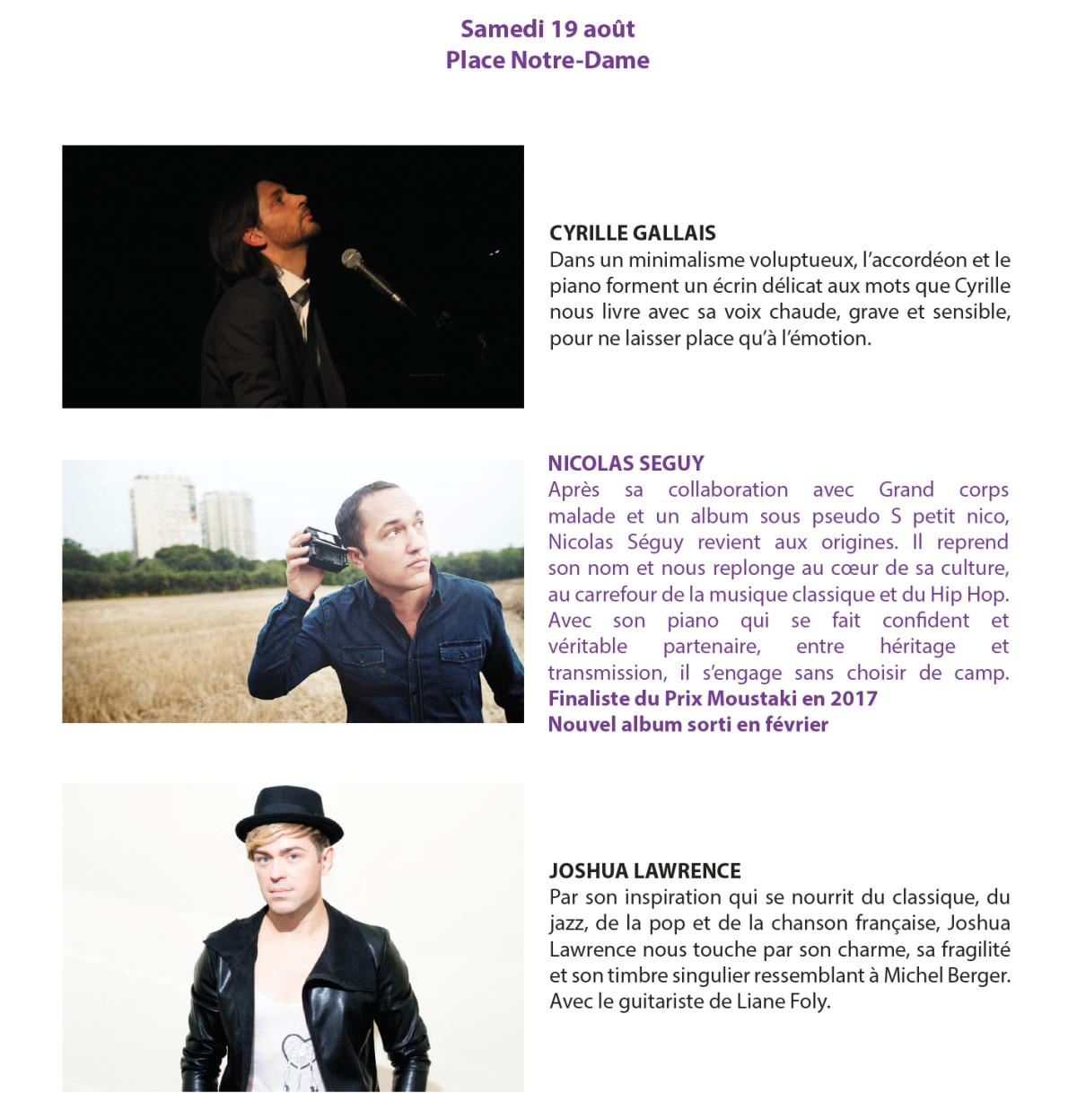 Bientôt...le festival de la chanson française à Montluçon