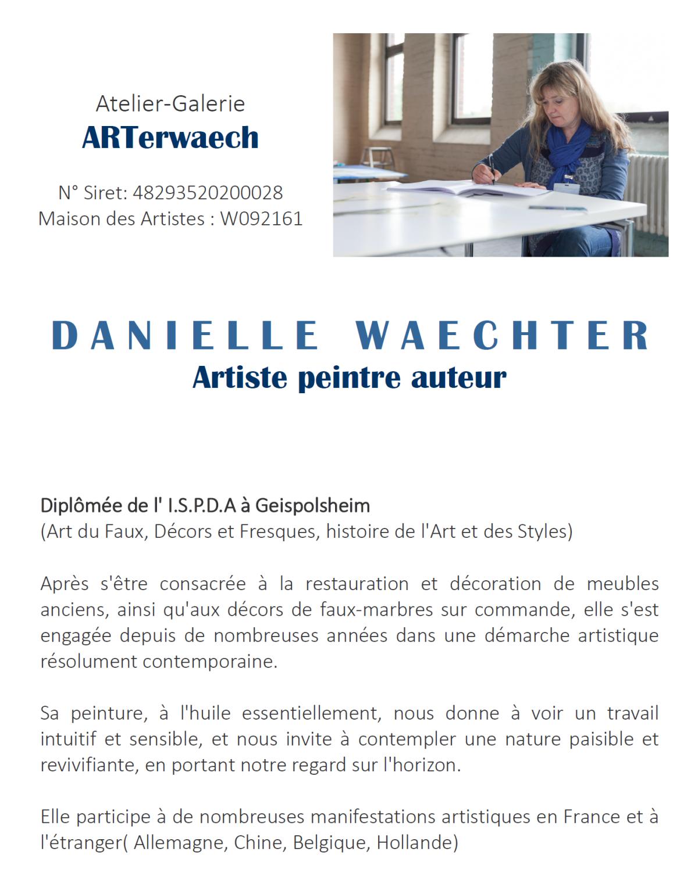 Exposition des œuvres de Danielle Waechter à Huriel