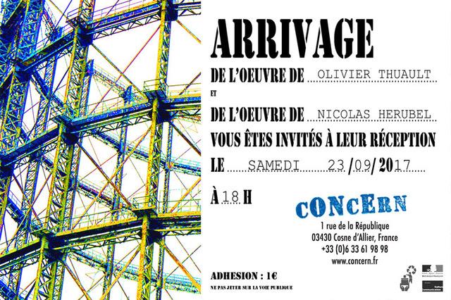 cONcErn accueille des nouvelles œuvres à Cosne d'Allier