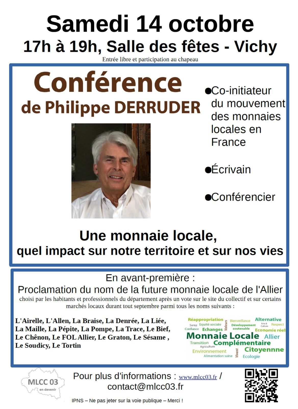 Présentation de la nouvelle monnaie locale de l'Allier avec Philippe Derruder