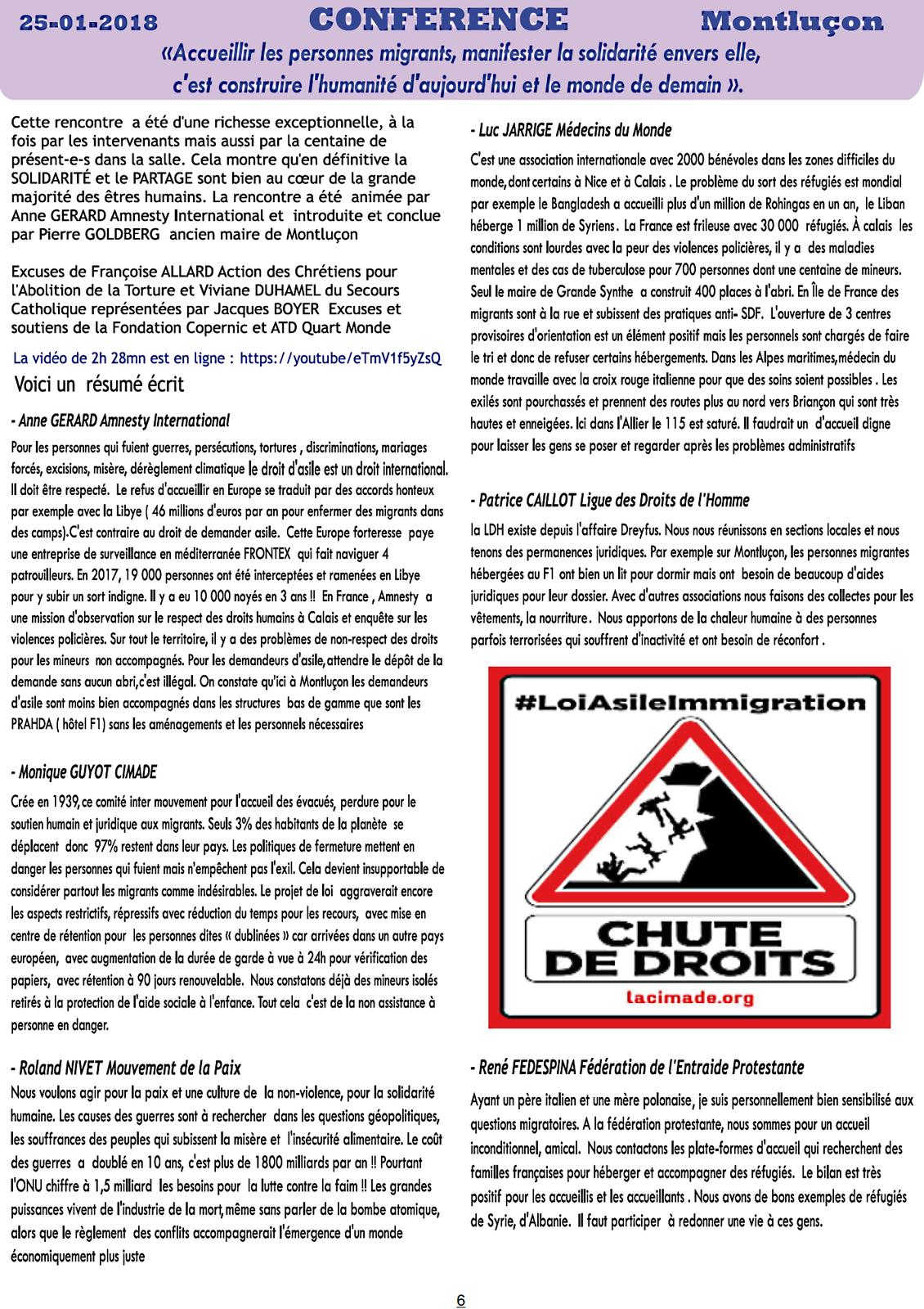 La lettre d'information de RESF Allier d'Avril 2018