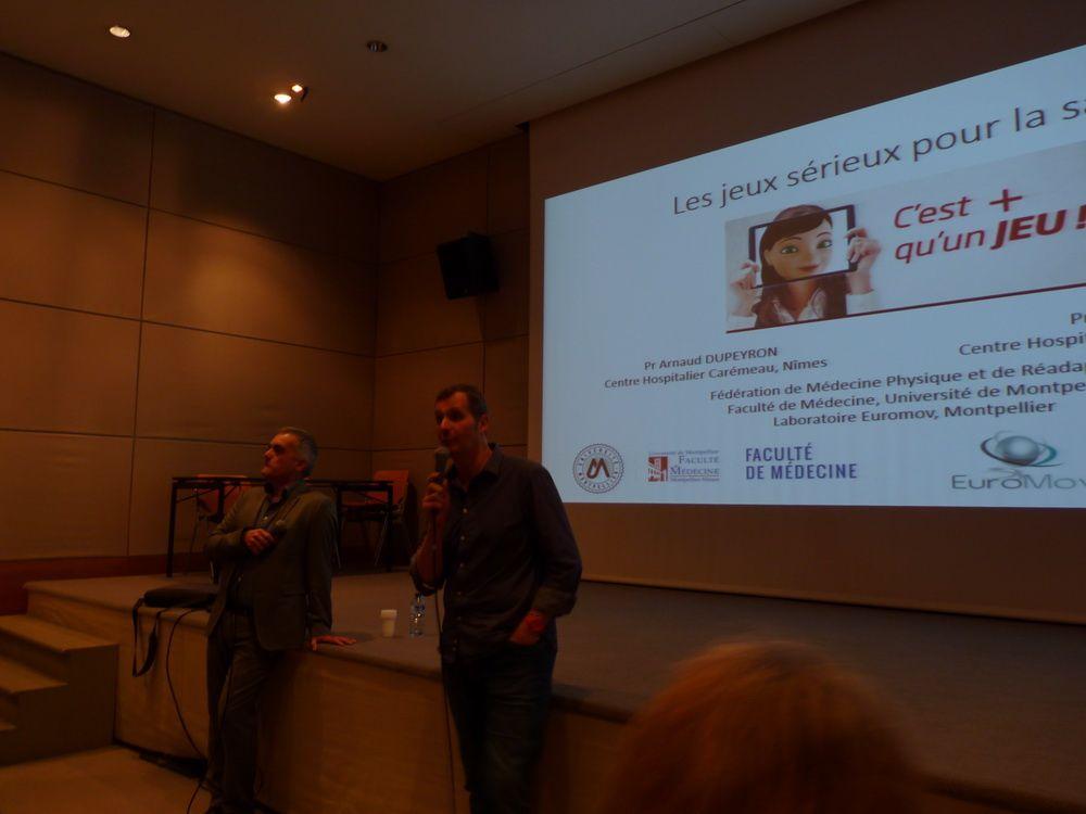 Conférence sur les jeux sérieux et la santé avec Arnaud Dupeyron et Marcus