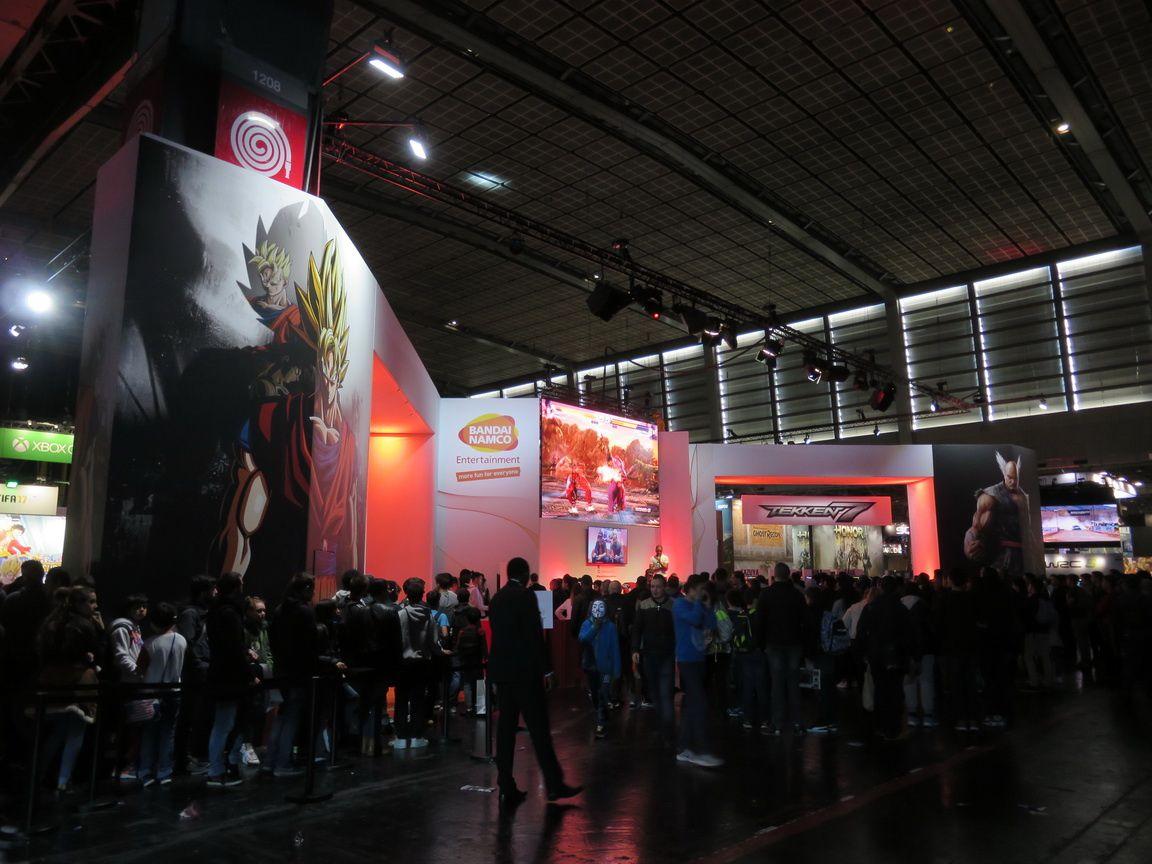 Un beau et grand stand pour Bandai Namco Entertainment