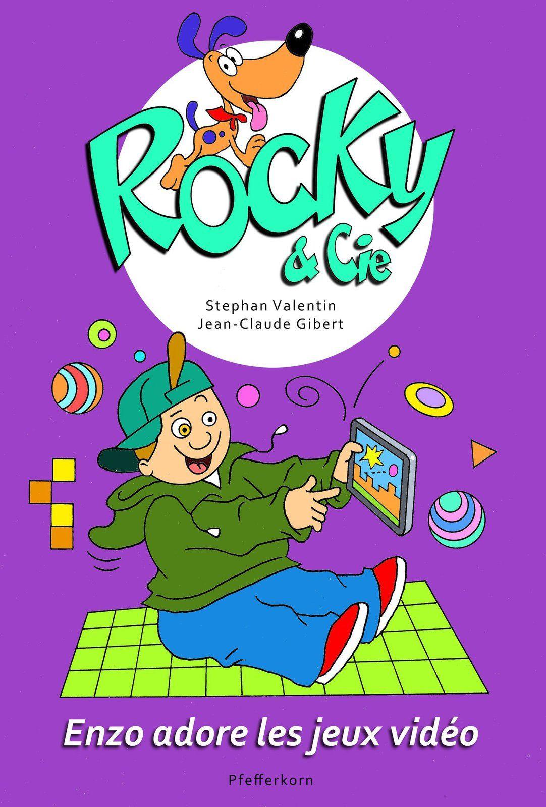 [REVUE BANDE DESSINEE GAMING] ROCKY & CIE Enzo adore les jeux vidéo aux éditions PFEFFERKORN