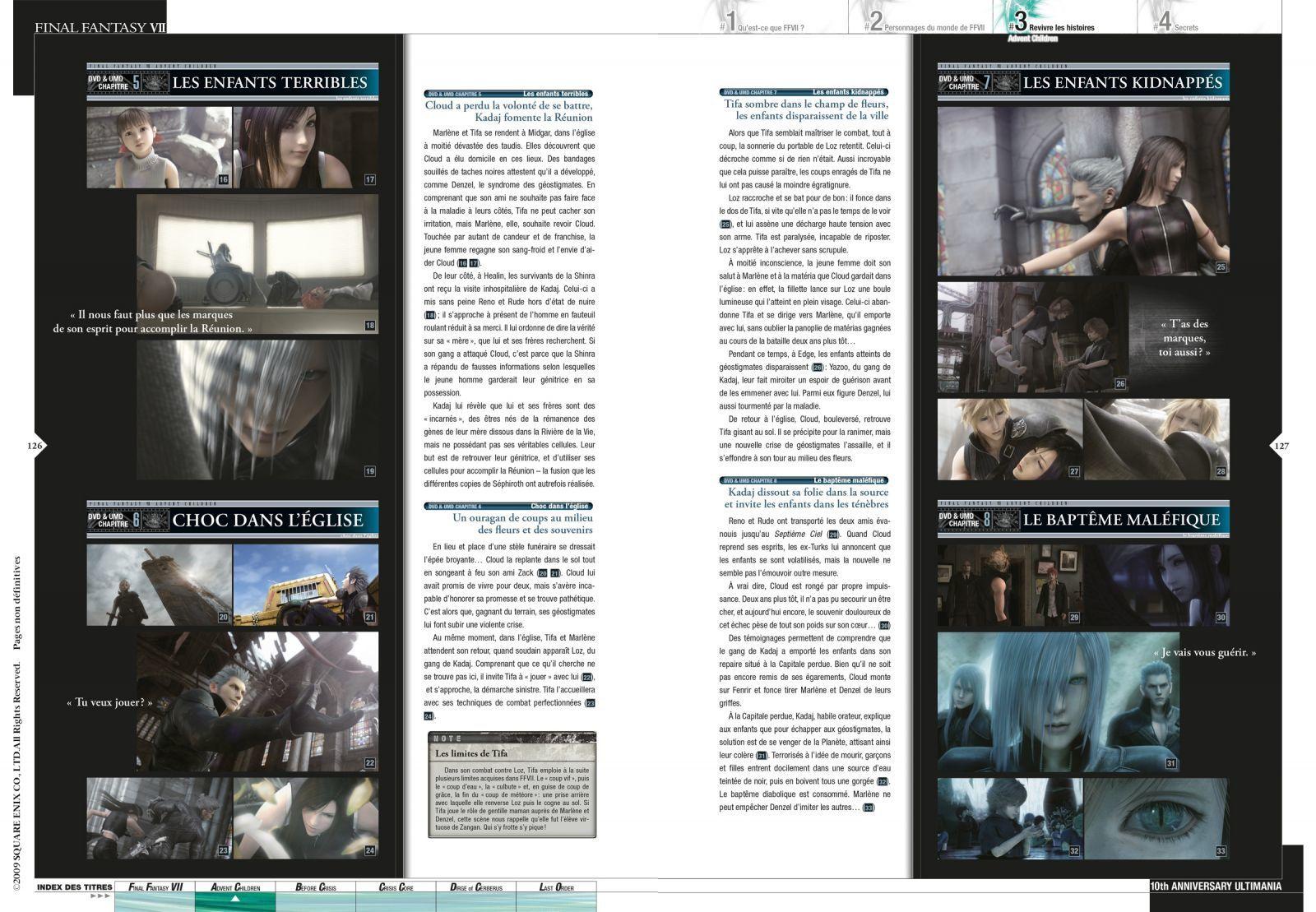 """Extraits du livre """"FINAL FANTASY avec FINAL FANTASY VII ULTIMANIA"""" aux éditions Mana Books"""