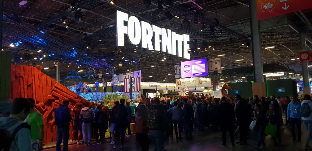 L'immense stand FORTNITE