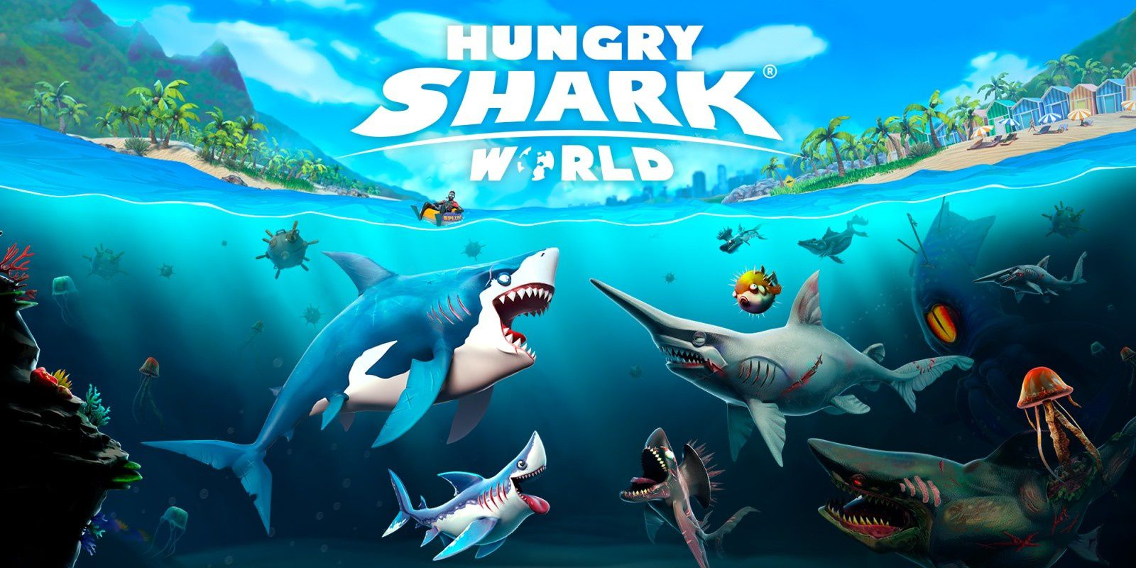 [TEST] HUNGRY SHARK WORLD XBOX ONE X : le Pac-Man - like version requins