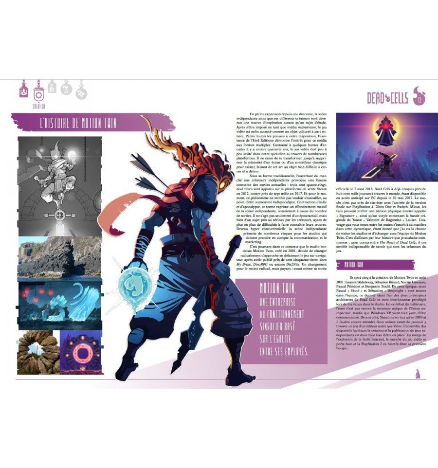 "Des extraits du livre ""THE HEART OF DEAD CELLS A VISUAL MAKING OF"" paru chez THIRD EDITIONS"