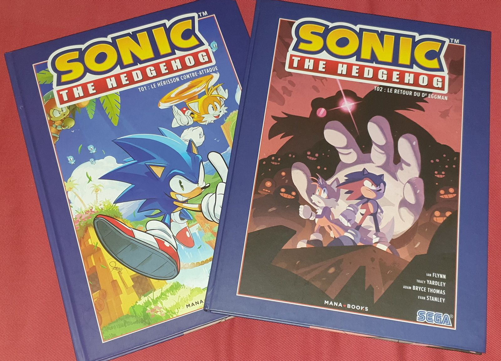 [REVUE COMICS GAMING] SONIC THE HEDGEHOG TOME 1 & 2 aux éditions MANA BOOKS