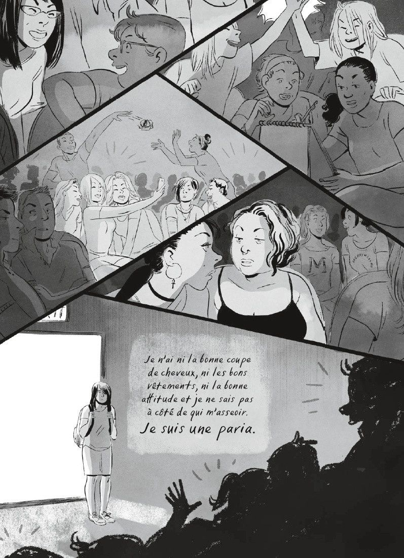 Extraits de la bande dessinée SPEAK d'Emily CARROLL aux éditions RUE DES SEVRES