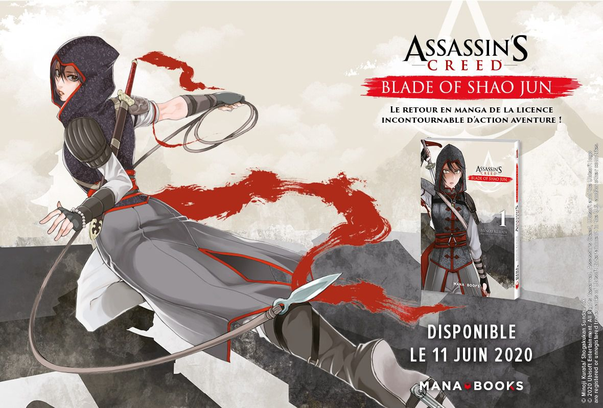 [REVUE MANGA GAMING] ASSASSIN'S CREED - Blade of Shao Jun - Tome 1 de Minoji KURATA aux éditions MANA BOOKS