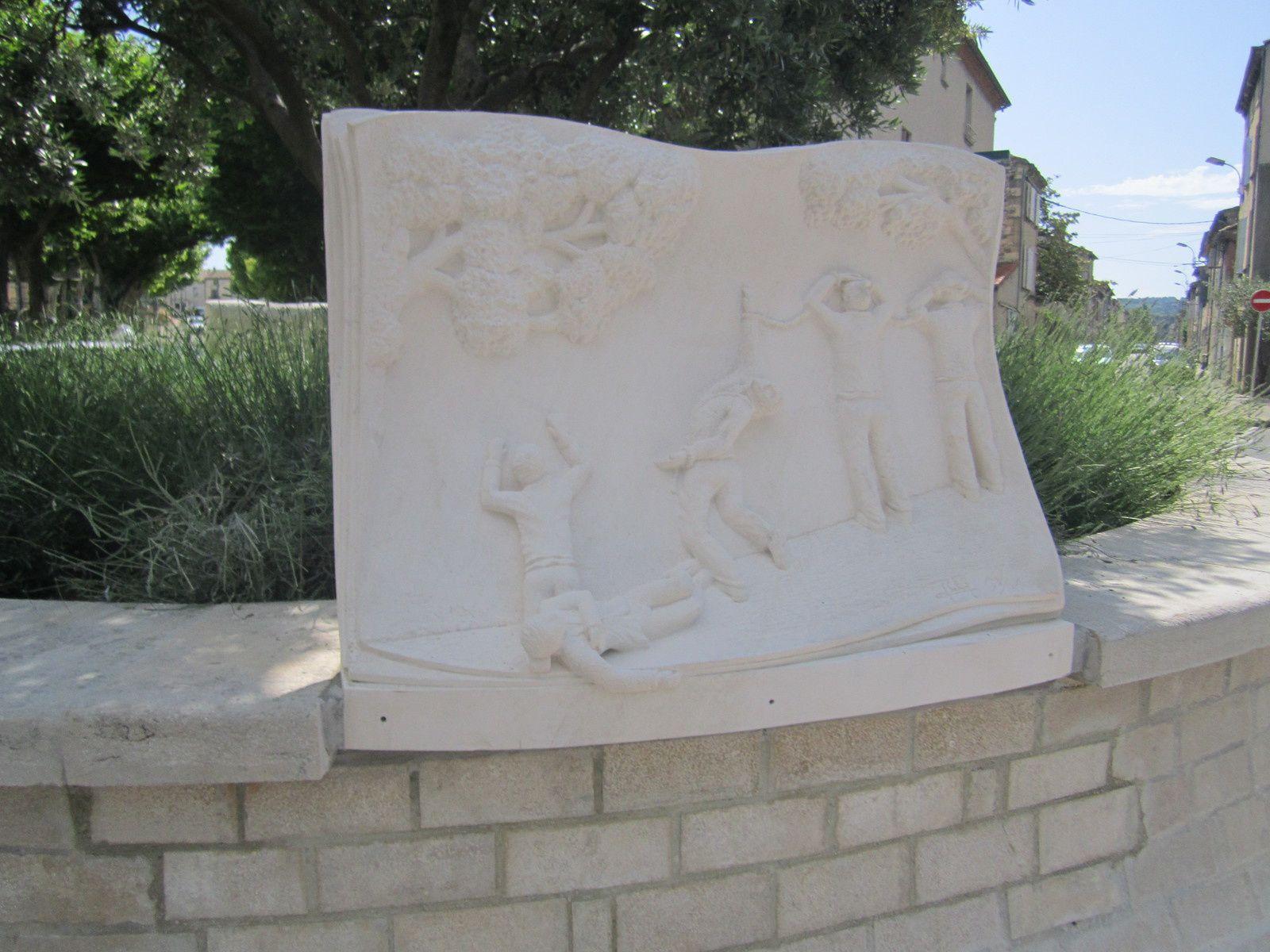 Sculpture du rond-point du 12 juin 1944