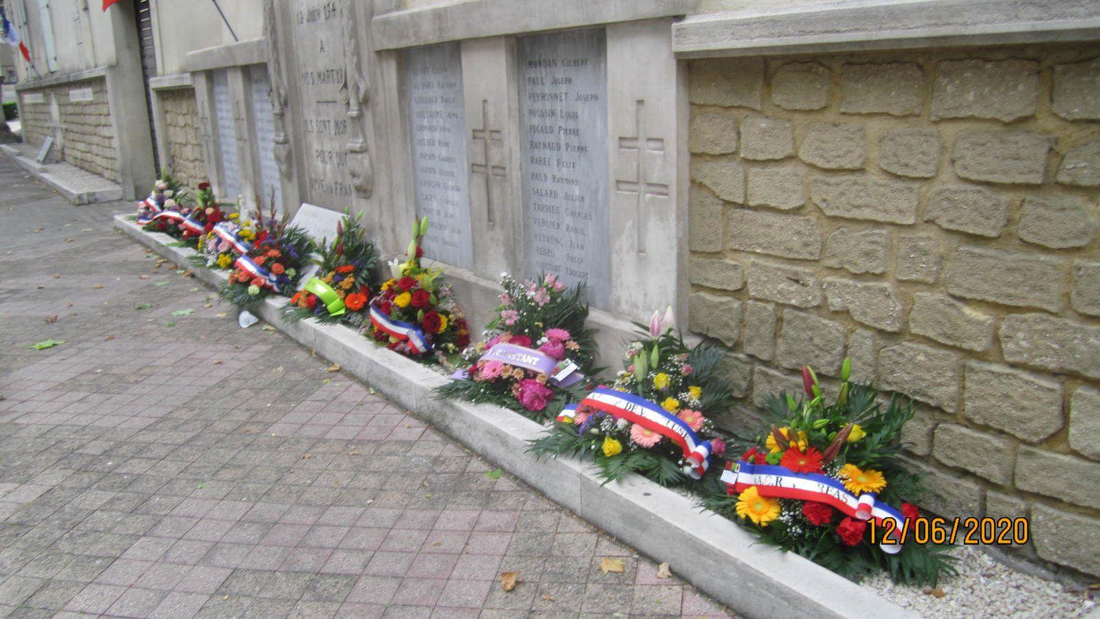 12 juin 2020, des fleurs pour nos martyrs