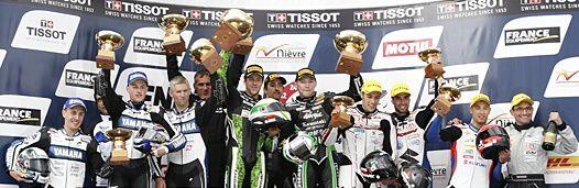 Le podium de ce Bol d'Or 2014 ! Bravo encore à tout les pilotes !