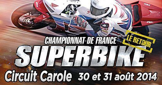 Ce weekend l'épreuve du superbike ce déroulera au circuit Carole ! Le dénouement n'est plus très loin et les points devront être marquée pour avoir une chance de se classer sur le podium final !