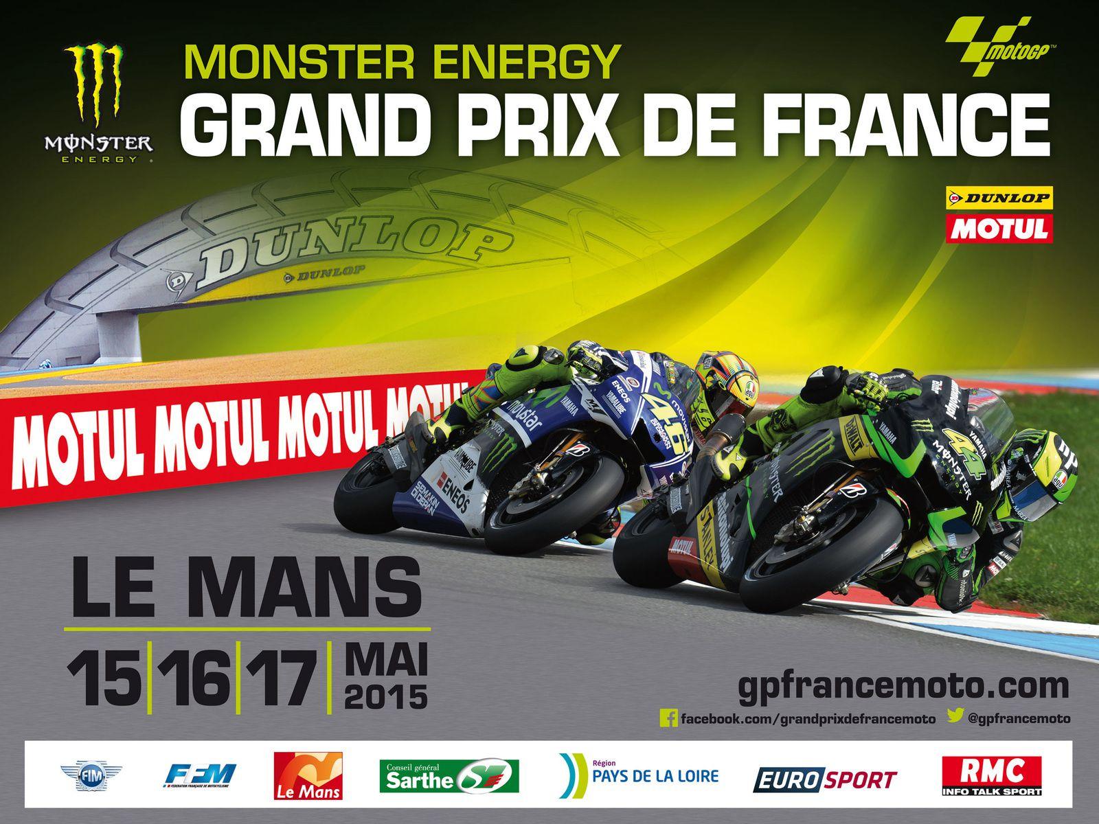 Bravo encore aux pilotes pour leurs performances ! Excellente présentation de ce Motogp qui se déroulera au Mans le 15, 16 et 17 Mai prochain ! Tenez vous informer