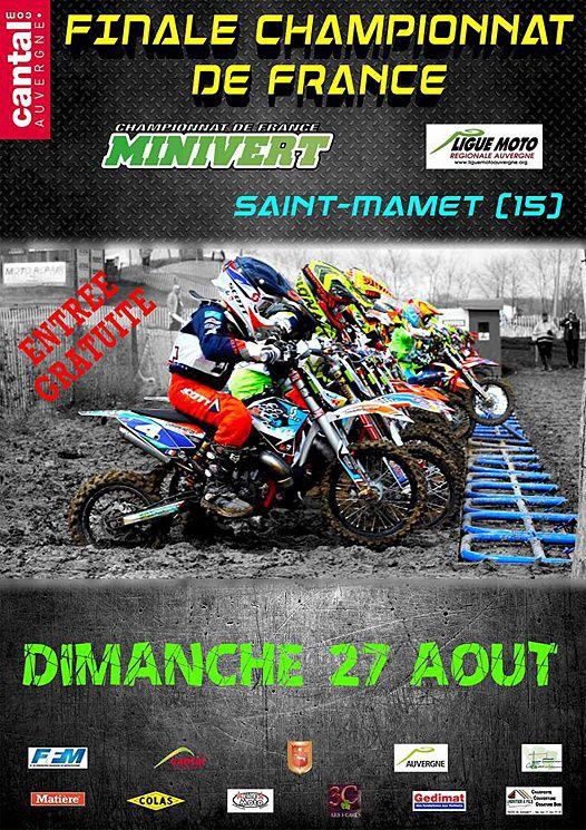 Affiche - Ligue Auvergne. La finale du championnat Minivert sera la haut lieu des principaux jeunes pousse de la discipline qui brilleront à l'issue de cet très belle épreuve.