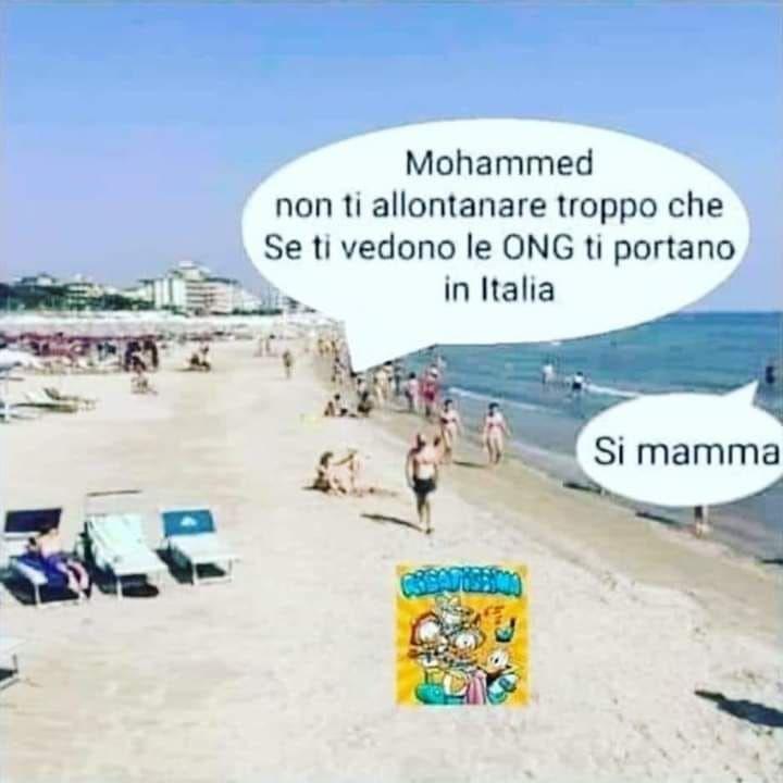 « Mohammed, ne t'éloigne pas trop, car si elles te voient, les ONG vont t'emmener en Italie ». « Oui, Maman ».