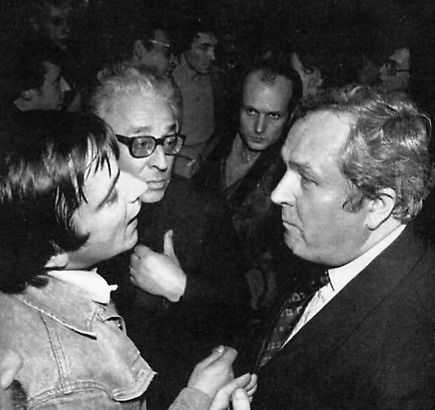1972 (?) : discussion animée entre Alain Robert et Jean-Marie Le Pen