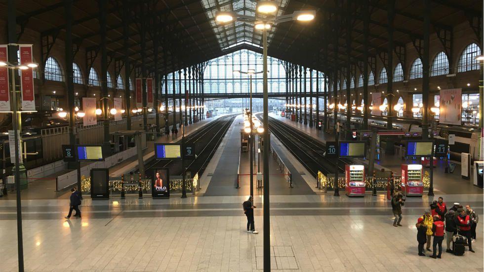 5 décembre 2019 : la Gare du Nord totalement désertée…