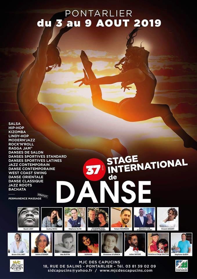 Stage international de danse de Pontarlier du 3 au 9 Août 2019