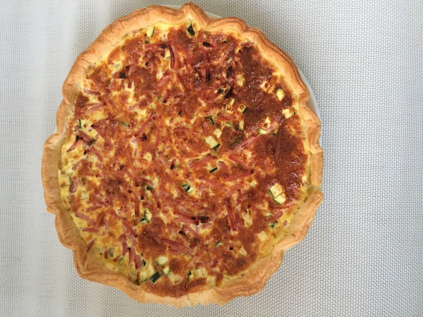 tarte salée jambon courgette facile