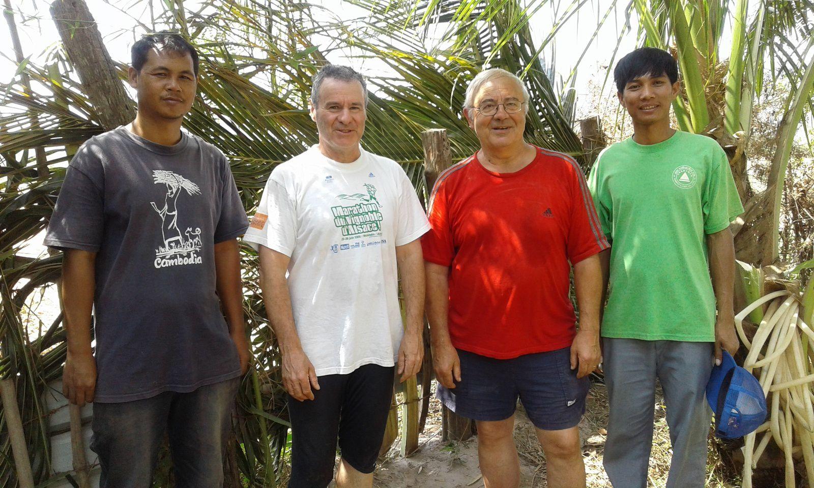 4 paroissiens en mission à Kep