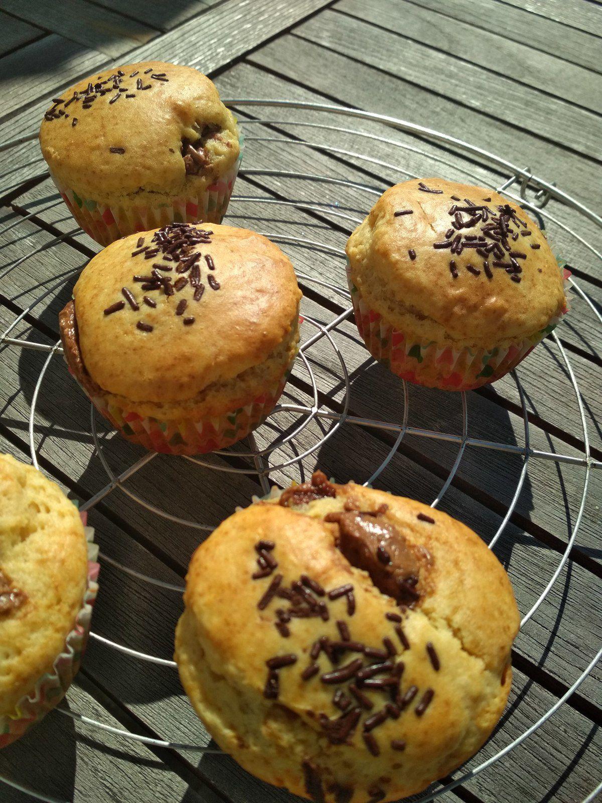 Muffins coeur pâte à tartiner sans beurre
