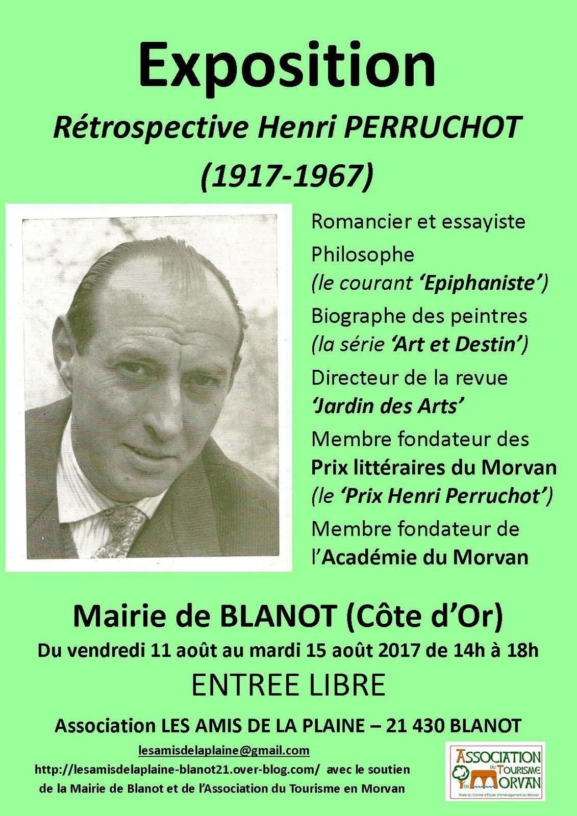 """Affiche de l'EXPOSITION """" Rétrospective Henri Perruchot (1917-1967) """""""