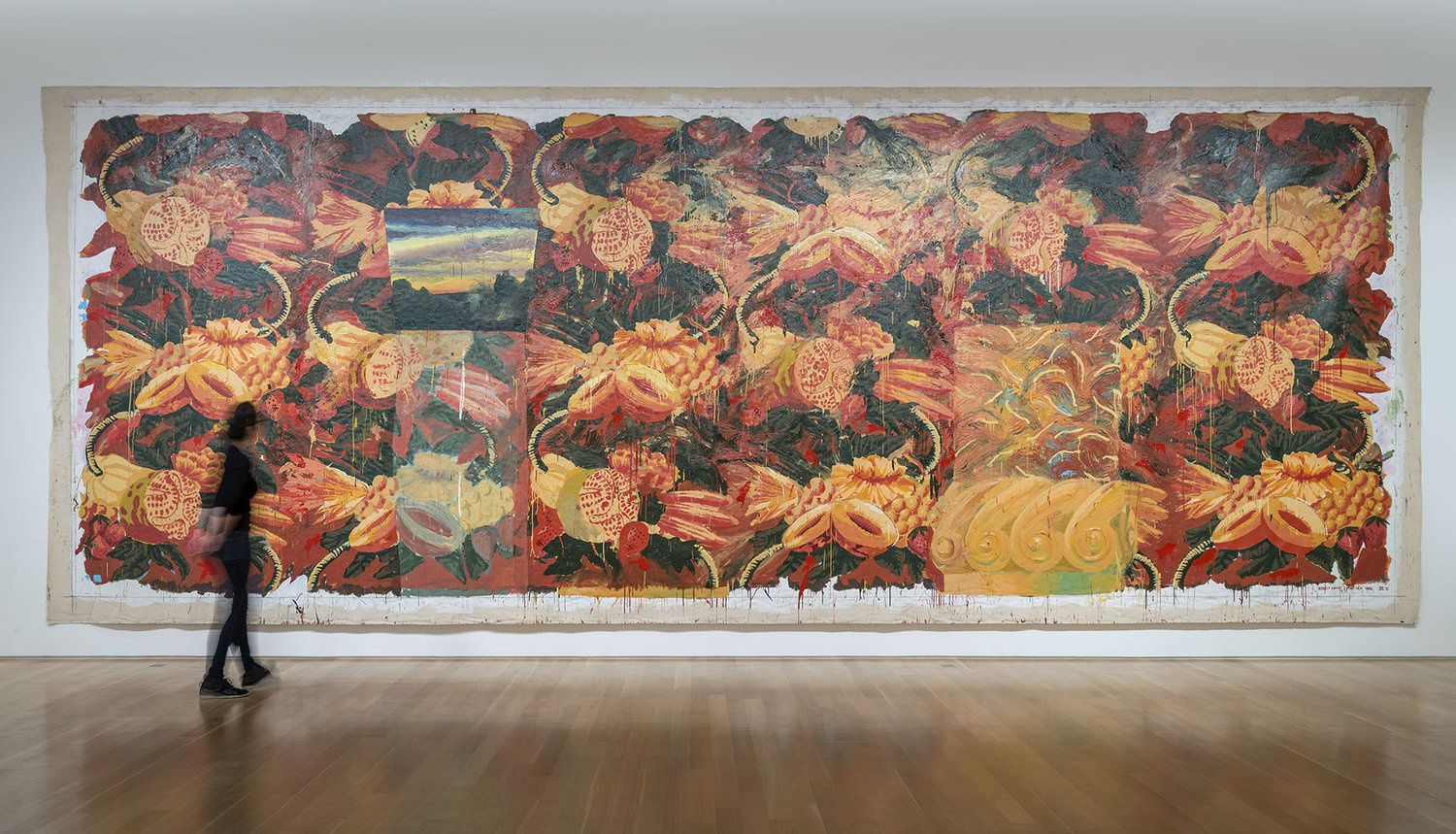 Big Bungalow Suite III, 1991-92, Acrylic on canvas, 11 x 30 ft. Collection of the Artist. (Installation View: The Nerman Museum of Contemporary Art, OverlandPark, KS, 2015