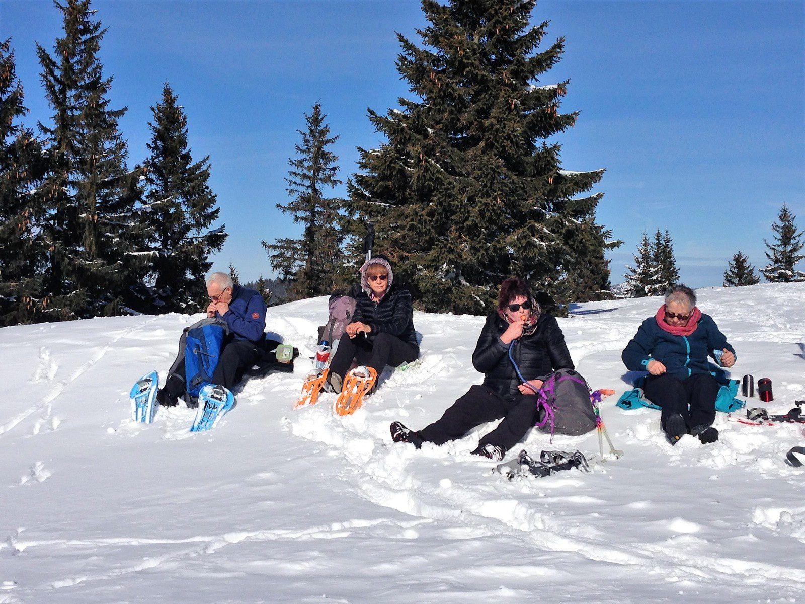 Mardi  6 Février:Raquette au col du Mollendruz