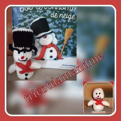"""Ma marionnette à doigts .... """"Bob le bonhomme de neige"""""""