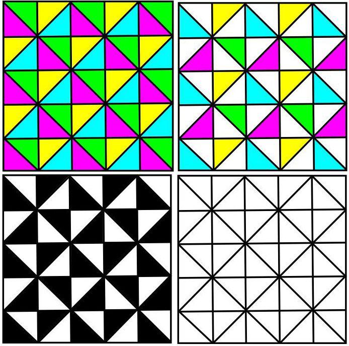 A partir d'un même dessin, il est possible de combiner plusieurs versions différentes.