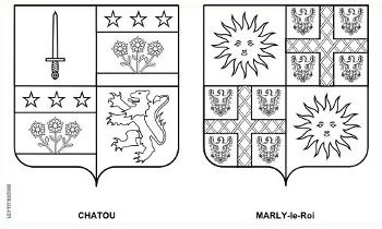 Blasons à colorier : Chatou / Marly-le-Roi