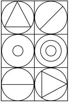 Coloriages à la manière d'...Auguste HERBIN / niveau 2 (moyen)