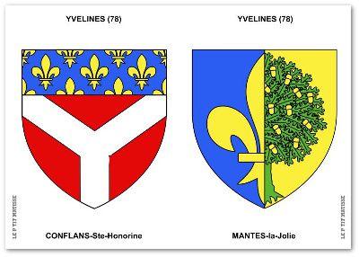 Le département des Yvelines est très lié à la Royauté, d'où la fleur de lys qui orne les blasons