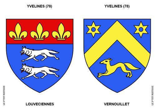 Blasons à colorier / Yvelines (78) / Louveciennes-Vernouillet
