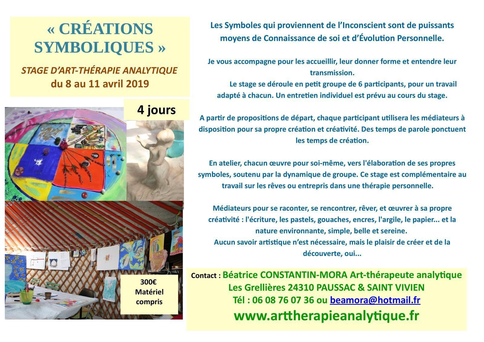 Stage d'art-thérapie analytique en Dordogne