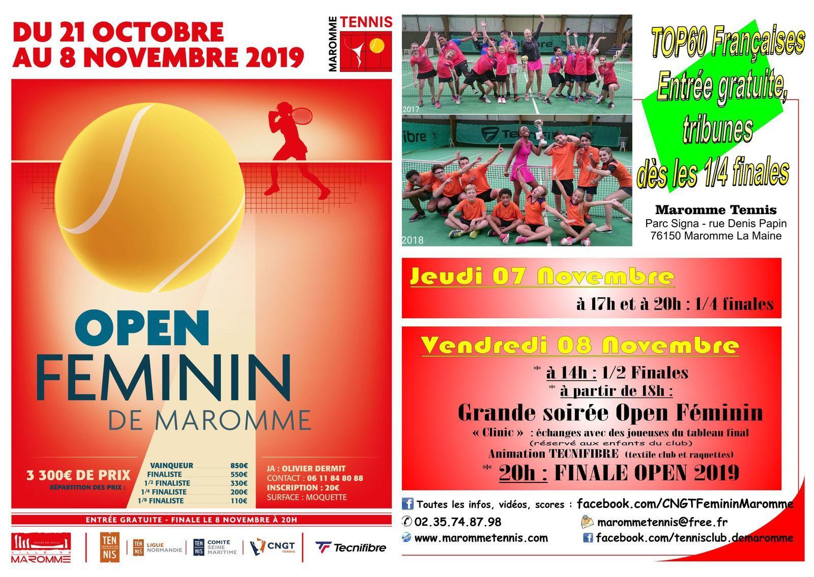 Programme Open Féminin 2019