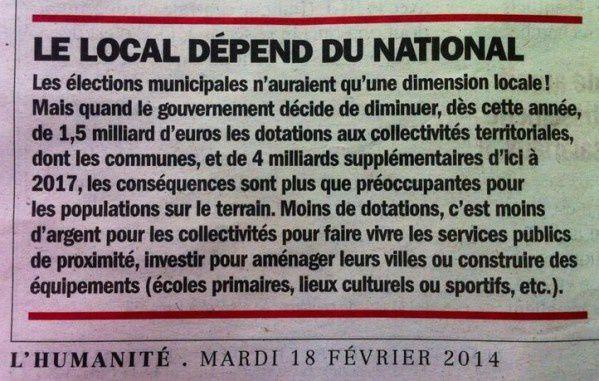National et local, pas pareil ?