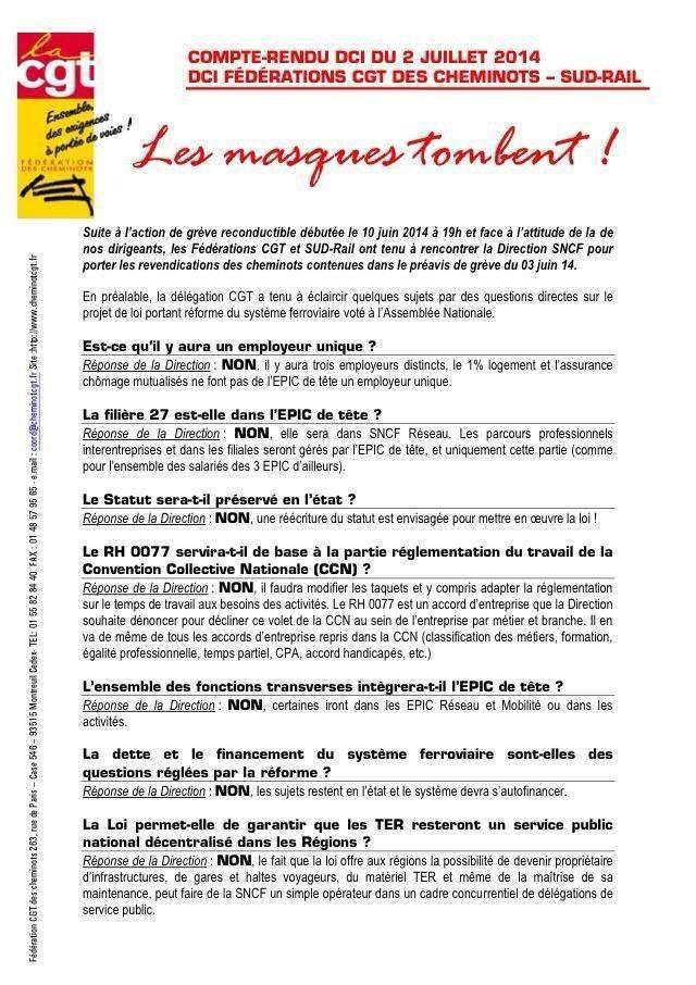 SNCF : Pour ceux qui s'obstinent à ne pas vouloir comprendre les raisons d'une grève :